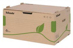 """ESSELTE """"Eco"""" előre nyíló újrahasznosított karton barna archiváló konténer"""