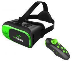 """Esperanza EGV300R Virtual Reality 3.5"""" - 6"""" fekete-zöld 3D VR szemüveg"""