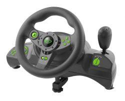Esperanza EGW102 Nitro PC/PS3 fekete-zöld gamer kormány + pedál