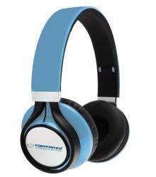 Esperanza EH159B FREESTYLE fekete-kék vezetékes fejhallgató