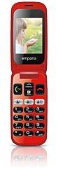 "Emporia ONE 6,1 cm (2.4"") 80 g Fekete-Piros Telefon időseknek"