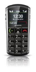 """Emporia PURE 5,08 cm (2"""") 92 g Fekete-Szürke Telefon időseknek"""