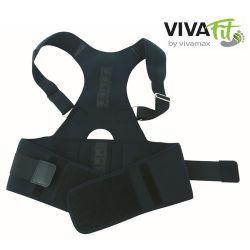 Vivafit AFT-B002 S méret (80cm) fekete mágneses tartásjavító háttámasz