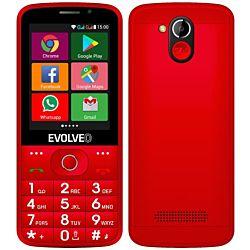 "Evolveo Easyphone AD 2.8"" 4GB Dual SIM 3G/UMTS piros hagyományos mobiltelefon"