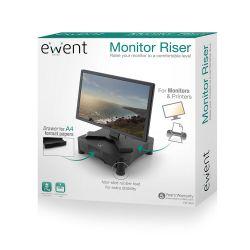 Ewent EW1280 fekete fiókos monitor magasító