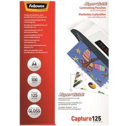 FELLOWES SuperQuick A4 125 mikron fényes meleglamináló fólia (100 db)
