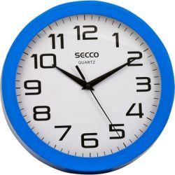 "SECCO ""Sweep second"" 24,5 cm kék keretes falióra"