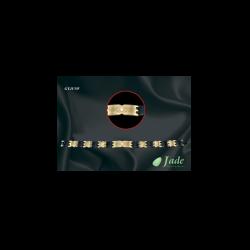 Jade Fashion 3 L (21,60cm) arany-fekete karkötő
