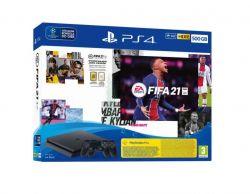 Sony PlayStation 4 Slim 500GB 2 Dualshock 4 + Fifa 21 fekete játékkonzol + játékszoftver