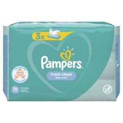 Pampers Fresh Clean 156 darabos nedves törlőkendő