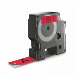 """DYMO """"D1"""" 19 mm x 7 m piros-fekete feliratozógép szalag"""