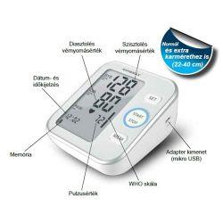 Vivamax B22 fehér-ezüst felkaros vérnyomásmérő