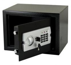 G21 GA-25E 350x250x250mm, rögzíthető fekete-fém digitális széf