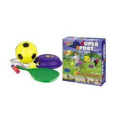 G21 15881C Futbal és teniszlabda zsinórral színes Játék szett