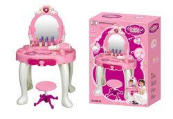 G21 008-25 fehér-rózsaszín játék fésülködő asztal