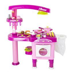 G21 008-82 3 év+, rózsaszín nagy játékkonyha tartozékokkal