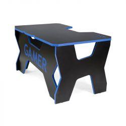 Generic Confort Gamer2DS/NB 200kg, kék szegély, fekete gamer asztal