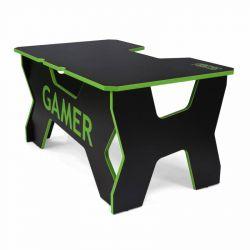 Generic Confort Gamer2DS/NE 200kg, zöld szegély, fekete gamer asztal