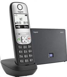 Gigaset A690IP Eco Dect Lan, 180 óra készenlét, fekete-ezüst VoIP telefon