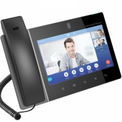 "Grandstream GXV3380 HD 8"" fekete VoIP telefon"