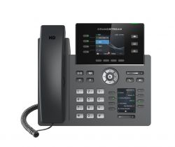 Grandstream GRP2614 4 soros TFT Wi-Fi Fekete IP telefon