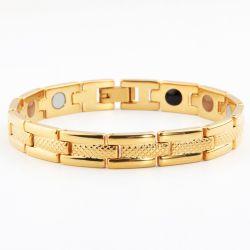 Jade Luxury 6 S-es (17 cm) mágneses-turmalinos arany karkötő