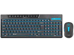 Tracer Islander vezeték nélküli 2.4GHz Membrános fekete Gaming billentyűzet + egér
