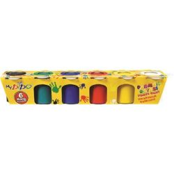 Südor 6x24 ml vegyes színű tégelyes ujjfesték készlet