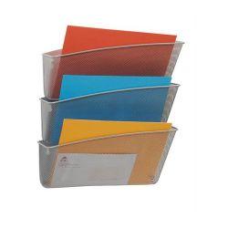 Alba 3 részes fémhálós ezüst fali irattartó