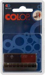 """COLOP """"E/12/2"""" kétszínű változat kék-piros bélyegző cserepárna (2 db/bliszter)"""