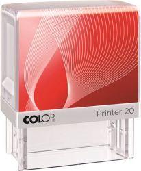 """COLOP """"Printer IQ 20"""" bélyegző fehér ház - fekete párnával"""