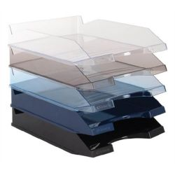 VICTORIA műanyag áttetsző irattálca