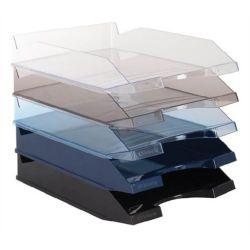 VICTORIA műanyag áttetsző füstszínű irattálca