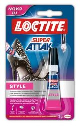 HENKEL Loctite Super Attak Style 3 g pillanatragasztó gél