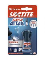 HENKEL Loctite Super Attak 5 g ecsetes pillanatragasztó