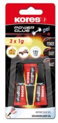 "KORES ""Power Glue Gel"" 3x1 g-os pillanatragasztó gél"
