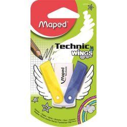 """MAPED """"Technic Wings"""" vegyes színek műanyagtokos radír"""