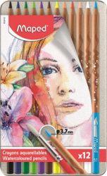 Maped Artists 12 különböző színű akvarell ceruza készlet ecsettel (12 db)