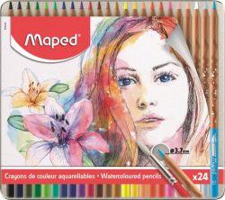 Maped Artists 24 különböző színű akvarell ceruza készlet ecsettel (24 db)