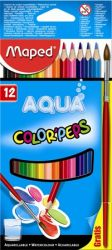 """MAPED """"Color`Peps"""" háromszögletű 12 különböző színű akvarell ceruza készlet ecsettel"""