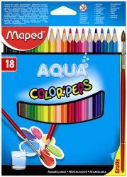 """MAPED """"Color Peps"""" háromszögletű 18 különböző színű akvarell ceruza készlet ecsettel"""