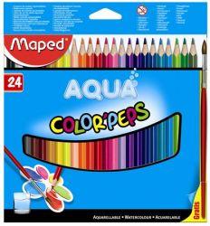 """MAPED """"Color Peps"""" háromszögletű 24 különböző színű akvarell ceruza készlet ecsettel"""