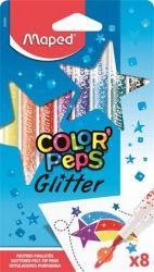 """MAPED """"Color`Peps Glitter"""" 2,8 mm 8 különböző szín csillámos filctoll készlet"""