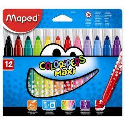 """MAPED """"Color`Peps Maxi"""" kimosható vastag Filctoll készlet"""