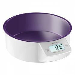 Sencor SKS SKS 4004VT max. 5 kg, 1g-os pontosság, LCD lila-fehér konyhai mérleg