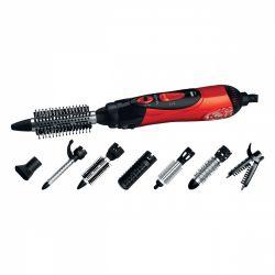 Sencor SHS 7551RD 1000 W, 2 fokozat piros-fekete meleglevegős hajformázó