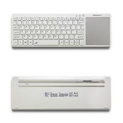 Qoltec 50251 | 2.4GHz | vezeték nélküli + touchpad fehér TV billentyűzet