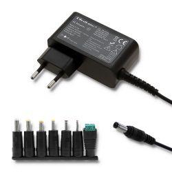 Qoltec 51736 30W 7-csatlakozós fekete hálózati adapter