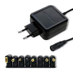 Qoltec 51566 45W 8-csatlakozós fekete univerzális hálózati adapter