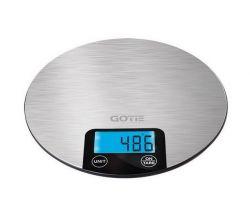 Gotie GWK-100 max. 5 kg, 1 g pontosság inox-fekete konyhai mérleg